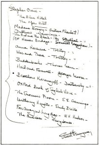 hemingway's reading list